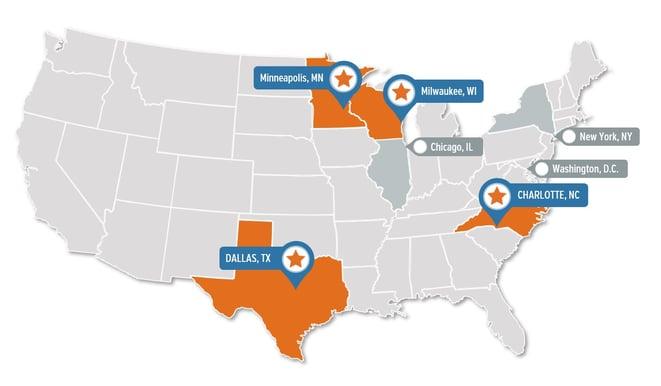 Dev10 Cohort locations