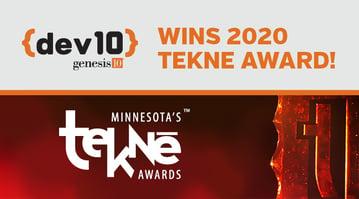 Dev10 wins 2020 Tekne Award-Blog
