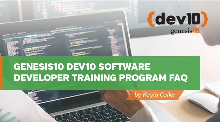 Genesis10 Dev10 Software Developer Training Program FAQ