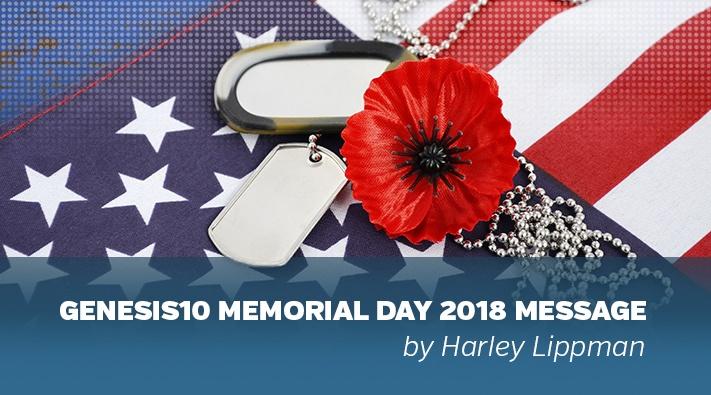 Genesis10 CEO Harley Lippman Memorial Day 2018 Message 2018