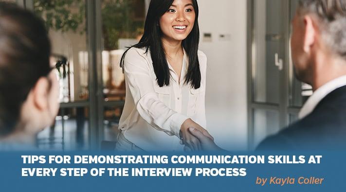 Tips for demonstrating interview skills