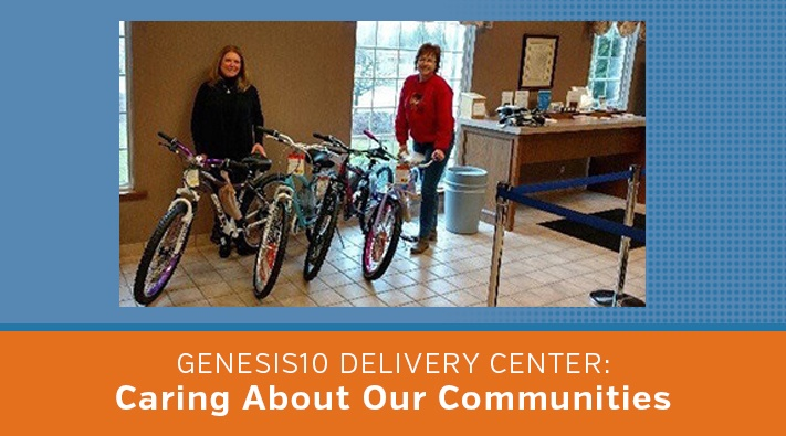 Genesis10 Troy Delivery Center Donates Bikes to Toys for Tots