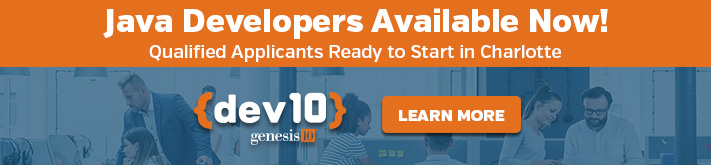 Java Developers Available Now! Ready to Start in Charlotte, Learn More