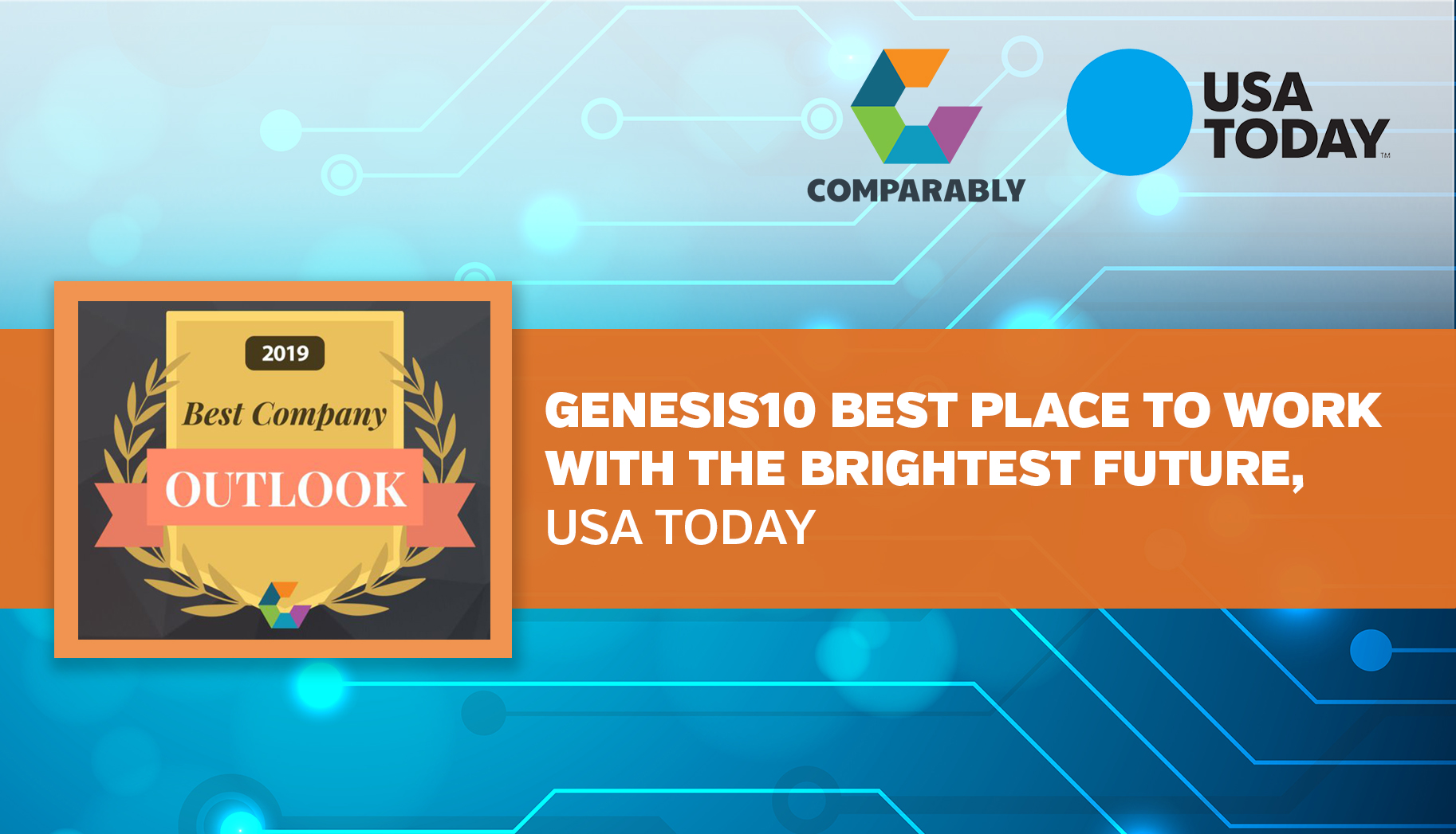 LinkedIn__Genesis10 Best Place to Work with the Brightest Future, USA Today