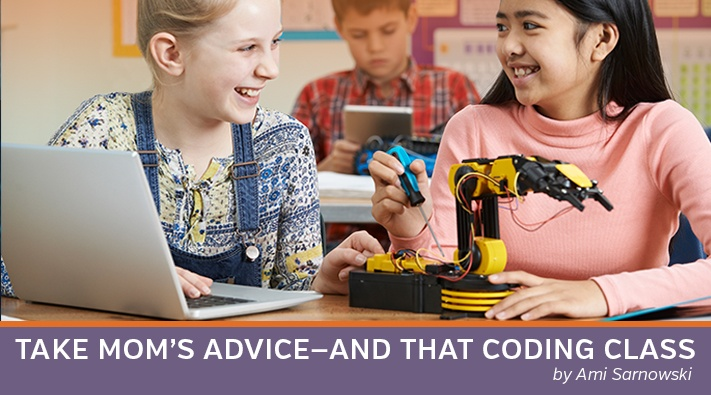 Coaching girls to take coding classes may lead them to pursue techology careers