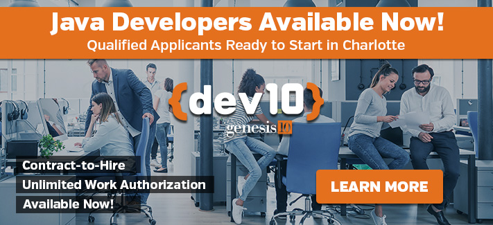 Java Developers Available Now! Ready to Start in Charlotte, Contact Us