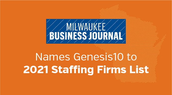Milwaukee Business Journal Names Genesis10 to Staffing Firms List