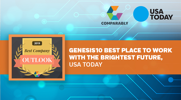 Blog Genesis10 Best Place to Work with the Brightest Future, USA Today