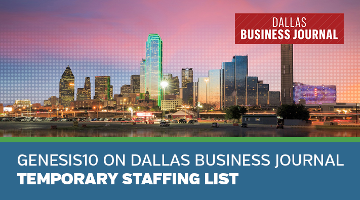 Blog Genesis10 on Dallas Business Journal Temporary Staffing List