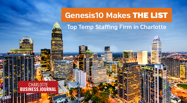 Genesis10 on Charlotte Business Journal Temp Staffing list
