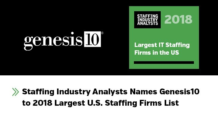 Staffing Industry Analysts Names Genesis10 to Largest U S  Staffing