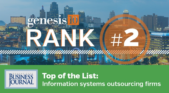 Genesis10 on Kansas City Business Journal Top IS Outsourcing Firms List