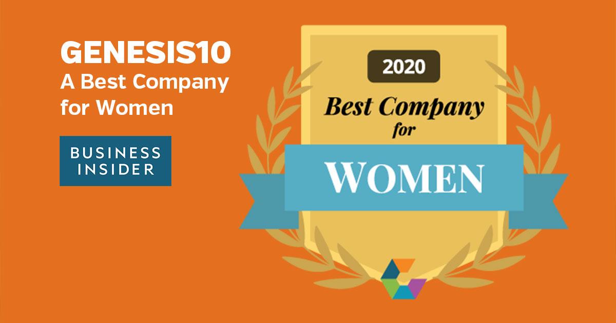 Genesis10 Best Companies for Women