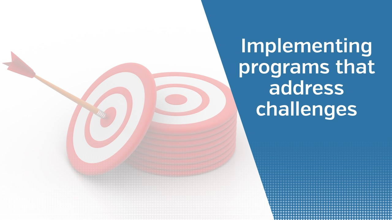 Implementing programs that address challenges