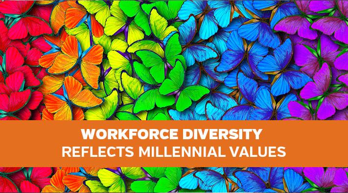 Workforce Diversity Reflects Millennial Values