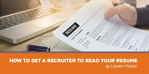 How to Get a Recruiter to Read your Resume